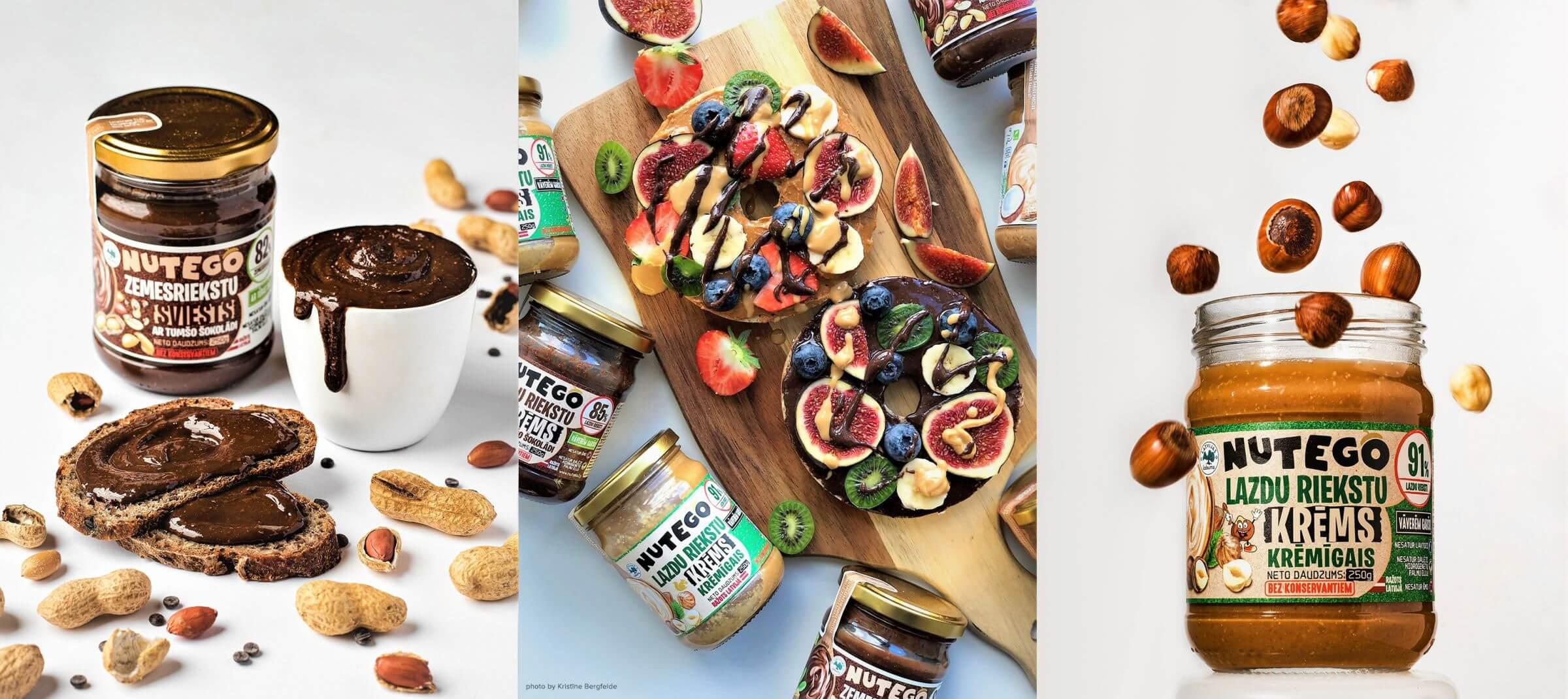 Nutego - Zemesriekstu, mandeļu riekstu, lazdu riekstu sviesti un krēmi