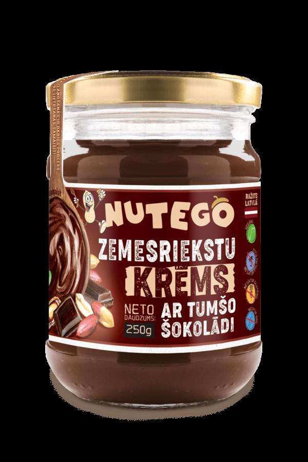 Nutego zemesriekstu krēms ar tumšo šokolādi 250g